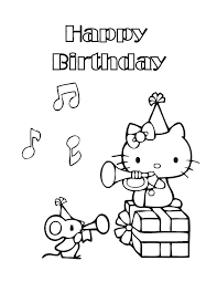 Small Picture Printable 21 Hello Kitty Happy Birthday Coloring Pages 6303 Free