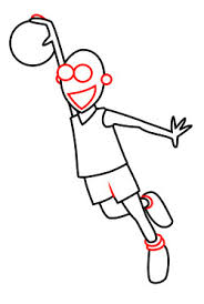 Basketball Drawing Pictures Drawing A Cartoon Basketball Player
