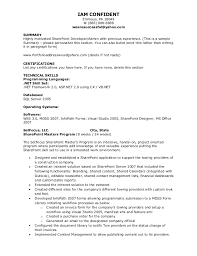Sharepoint Developer Resume New Kleimeyer SharePoint Resume