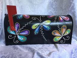 hand painted mailbox designs. Butterfly Hand Painted Mailbox Designs D