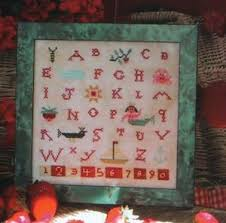 Details About Mermaid Sampler Birds Of A Feather Cross Stitch Chart