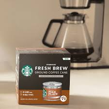 For now, it is best to err on the side of caution and avoid microwaving any starbucks containers. Starbucks Fresh Brew Cans With Ground Coffee Starbucks Coffee At Home