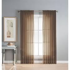 window elements diamond sheer voile 56 x 95 in rod pocket curtain panel 56