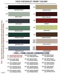 Vw Spring Color Chart Auto Paint Codes Coe Colors For 1952 Truck Paint Car