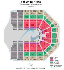 Van Andel Arena Seating Chart Wrestling Van Andel Arena Tickets And Van Andel Arena Seating Chart