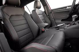 mk7 golf gti r full leather interior red stitching seats