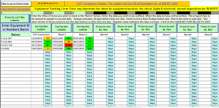 time tracking excel sheet equipment tracking template