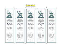 Microsoft Office Bookmark Template Promotional Bookmarks Office