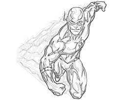 Flash Coloring Pages 01 Printable 2 Superhero Coloring Pages