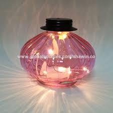 china decorative glass candle holder lantern with led light inside glass mosaic candle jar