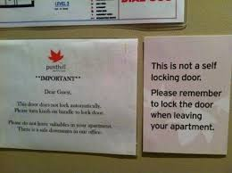 One bedroom apt dont forget to lock your door it wont lock