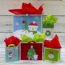 Christmas gift box hand painted red green festive atmosphere can be commercial. Doodlebug Design Inc Blog Christmas Gift Bags With Kathy