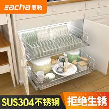 get ations italian chi 304 stainless steel kitchen cabinets seasoning basket kitchen cabinets baskets baskets damping drawer double