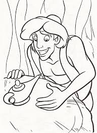 Aladdin E La Lampada Disegni Da Colorare Gratis Disegni Da