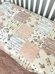 boho baby bedding baby quilt fox crib bedding girl woodland nursery girl fawn baby bedding crib