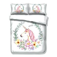 unicorn bedding full cute unicorn bedding set cartoon duvet cover twin full queen king size bedclothes