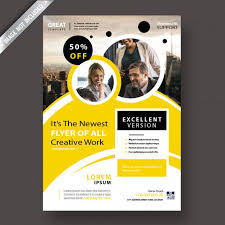 Yellow Corporate Flyer Template Free Psd Zonic Design