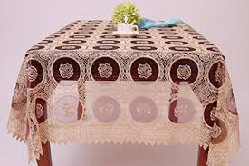 tablecloths qxfsmile beige lace tablecloth embroidered dandelion table cover round 36 inch
