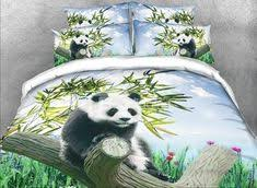 <b>New Arrival Cute</b> Snuggled Pandas Print 4 Piece Bedding Sets in ...
