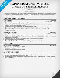 Broadcasting Internship Resume Sample