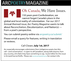 arc is looking for submissions of previously unpublished poems in any form for our reconciliation issue until july 1st 2017 cover letter for poetry submission