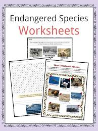 Endangered Species Facts, Worksheets, Categories & Types Of Animals
