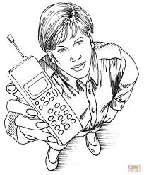 Office Phone Coloring Page Free Printable Coloring Pages