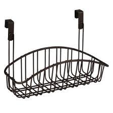 Small Over-the-Cabinet-Door Metal Basket, Bronze
