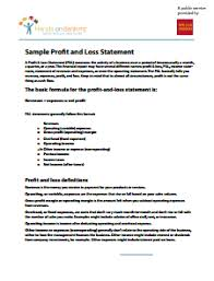 Create A Profit And Loss Statement Profit And Loss Statement Free Download Edit Fill
