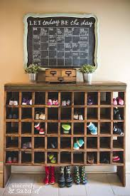 Remodelaholic | Build a Vintage Mail Sorter Shoe Cubby
