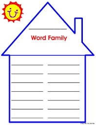 Word Families Template Word Family House Education Word Families Word Study