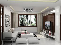Interior Design For Lcd Tv In Living Room Living Room White Modern Long Sofa Chandelier Design Decor Motif