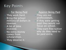 why college athletes should get paid essays should college athletes get paid ending the debate once and for