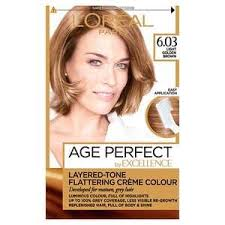 L Oreal Excellence Age Perfect Colour Chart Excellence Age Perfect 603 Light Golden Brown Hair Dye