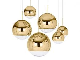 view in gallery mirror ball gold pendant lighting from tom dixon