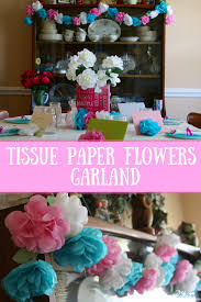 Paper Flower Garland Tissue Paper Flowers Garland My Hot Southern Mess