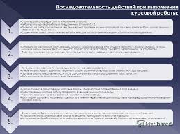 Презентация на тему Проверка курсовых работ ст преподаватель  6 Последовательность действий при выполнении курсовой работы