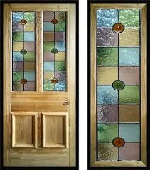victorian edwardian style stained glass door panels handmade to order