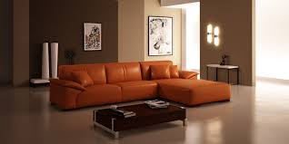 Sectional Living Room Furniture Beige Leather Sectional Sofa Design For Modern Living
