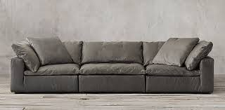 restoration hardware leather couch. Gallery Of Cloud Modular Leather Sofa RH Detail Restoration Hardware Couch Excellent 11