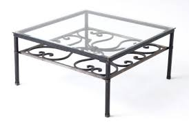 wrought iron indoor furniture. coffee tables that are fabricated out of wrought iron and topped with either glass poured concrete or stone add a unique element to an indoor outdoor furniture