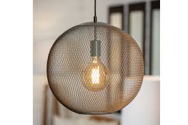kew globe pendant lamp putty pr home