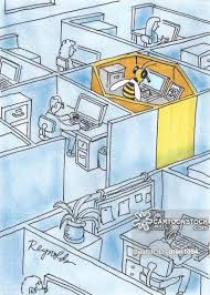 office cubical. Office Cubical Cartoon 1 Of 3
