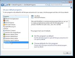 Remove File Type Associations In Windows 7