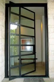 glass front doors. Glass And Steel Pivot Front Door Doors