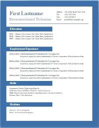 Microsoft Word Resume Template Download Ms Word Resume Template