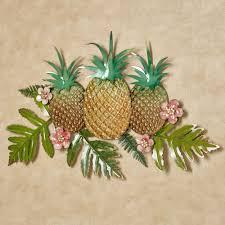Pineapple Splendor Tropical Metal Wall Art