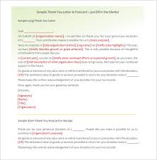 sample donor thank you letter donor thank you letter 10 free sample example format download