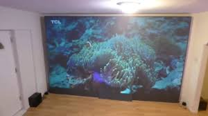 how to get a wallpaper like tv projection screen for 10x less