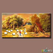 village scenery handmade painting whole village scenery suppliers alibaba